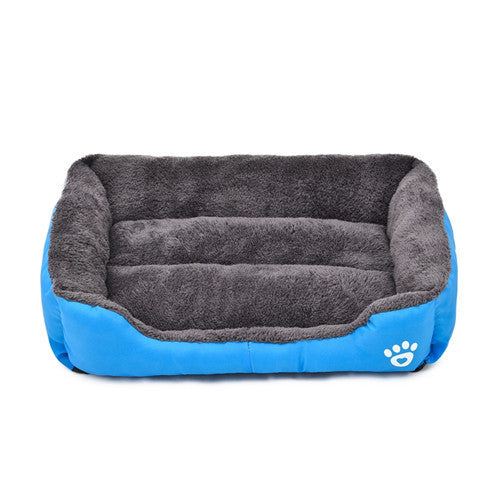 Blue / LPet Dog Bed Warming Dog House Soft Material Pet Nest Candy Colored Dog Fall and Winter Warm Nest Kennel For Cat Puppy 5 Colors