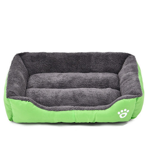 Green / LPet Dog Bed Warming Dog House Soft Material Pet Nest Candy Colored Dog Fall and Winter Warm Nest Kennel For Cat Puppy 5 Colors
