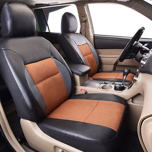 New Arrival PU Leather 2 Front Seat Cover Car Seat protector Automobile Seat Covers Backseat Universal fit like opel toyota Ford-Dollar Bargains Online Shopping Australia