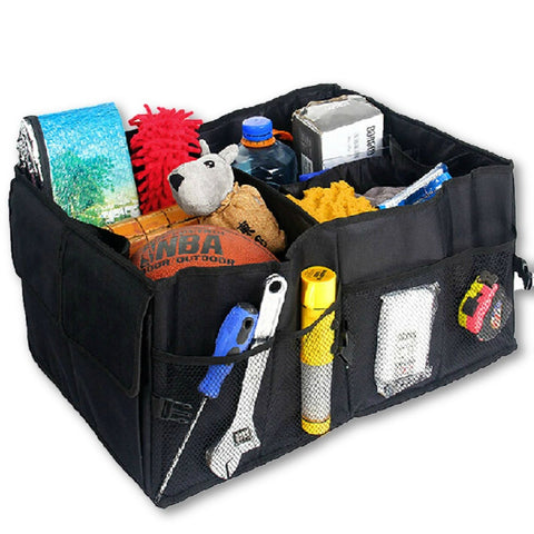 Auto Supplies Car Back Folding Storage Box Multi-Use Tools Organizer Car Portable Storage Bags Black-Dollar Bargains Online Shopping Australia