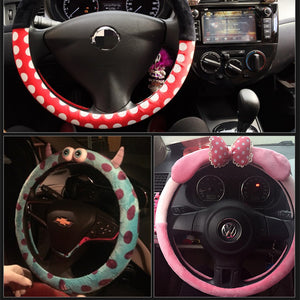 Car Styling Bow Car Steering Wheel Cover cute Cartoon Universal Interior Accessories Set Women 16designs-Dollar Bargains Online Shopping Australia