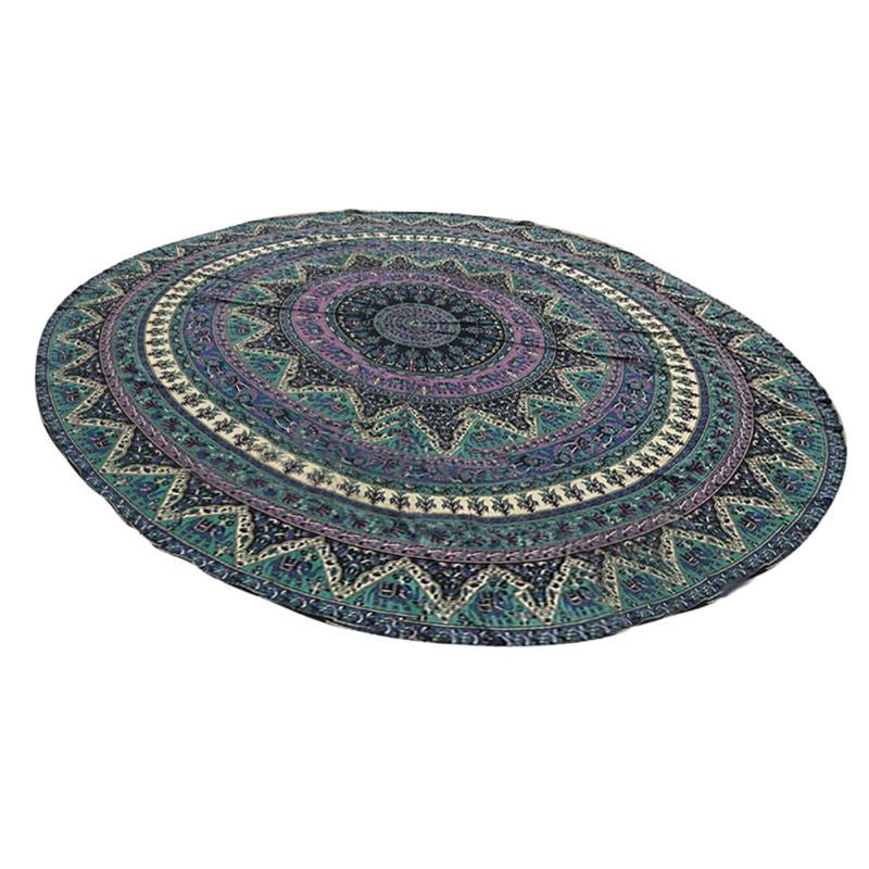 Green150cm Bedding Outlet Round Beach Towel Fire Peacock Mandala Chiffon Beach Swim Towels Bohemia Bain Para Playa Toallas