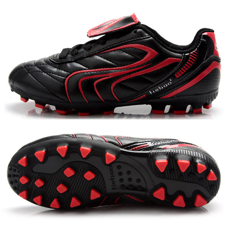 Black / 1.5brand Children Kids' Outdoor boys girls soccer boots Sneakers Training Soccer Cleats Football Game Boots top quality