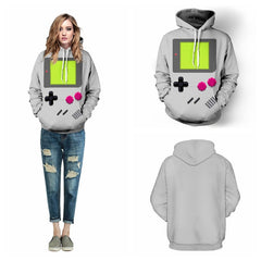 Grey PACMAN Games Skateboarding Hoodies Autumn Winter Women Sweatshirts Hooded Pullovers Pockets Long Sleeves Jacket FTQYDM-Dollar Bargains Online Shopping Australia