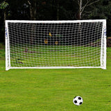 Full Size 12 x 6FT Football Soccer Goal Post Net Match Training Junior Polypropylene Fiber Net with-Dollar Bargains Online Shopping Australia