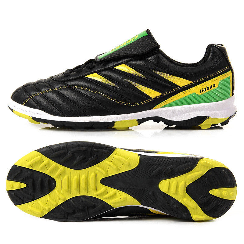 Black / 10Professional Outdoor Football Boots Athletic Training Soccer Shoes Men Women TF Turf Rubber Sole Shoes zapatos de futbol