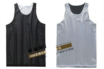 Black / SDouble-sides Wearing Ultra-light Breathable Basketball Jersey Reversible Sport Jerseys Big Size Training Jersey Gym Jerseys