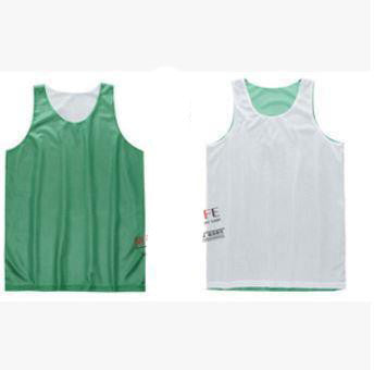 Green / LDouble-sides Wearing Ultra-light Breathable Basketball Jersey Reversible Sport Jerseys Big Size Training Jersey Gym Jerseys