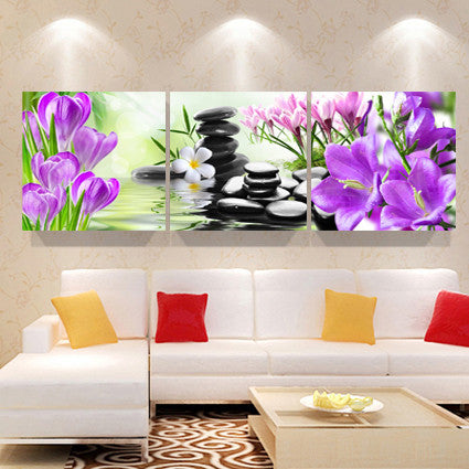 Print Poster Canvas Wall Art Orchids Decoration Art Oil Painting Modular  Pictures On The Wall Sitting Room Cuadros(no Frame)3pcs
