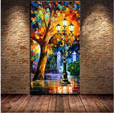 30cmx60cm / WhiteBA Oil Painting 100% Hand-painted Modern Design Knife Oil Canvas Painting Landscape Oil Paintings On Canvas Big Size Unframed