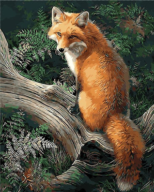 Frameless painting by number paint by numbers for home decor picture oil painting for living room 4050 fox on the tree-Dollar Bargains Online Shopping Australia