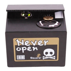 Halloween Gifts Stealing Money Skull Skeleton Statue Saving Box Money Piggy Bank-Dollar Bargains Online Shopping Australia