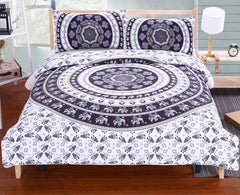 Bedding Bohemia Modern Bedclothes Indian Home Black and White Printed Quilt Cover 2Pcs or 3Pcs-Dollar Bargains Online Shopping Australia