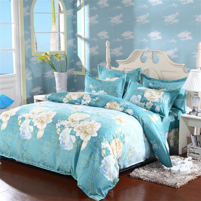 3/4pcs Bedding set Family Cotton Bedding Set Bed Sheets Pillow Quilt Duvet Cover King Size BedClothes No Comforter-Dollar Bargains Online Shopping Australia