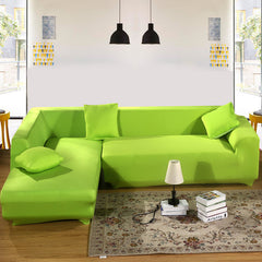 Green Color Tight All-inclusive Slipcover Stretch Fabric Elastic Sofa Cover Single/Two/Three/Four Seat Sofa Cover Home Decor-Dollar Bargains Online Shopping Australia