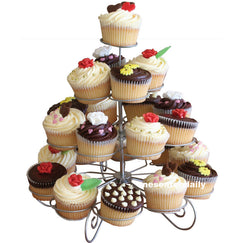 23 Cups European-style Multifunction Christmas Tree Shape Birthday Party Cupcake Stand Iron 4 Tier Cake Stand Holder-Dollar Bargains Online Shopping Australia