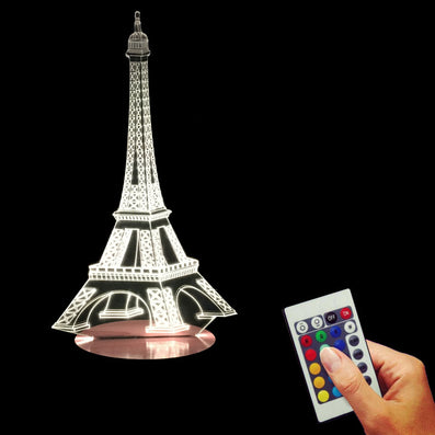 The Symbol Of Paris-The Eiffel Tower 3D Desk Night Light Home Lamp Color Changing LED USB-powered Light-Dollar Bargains Online Shopping Australia