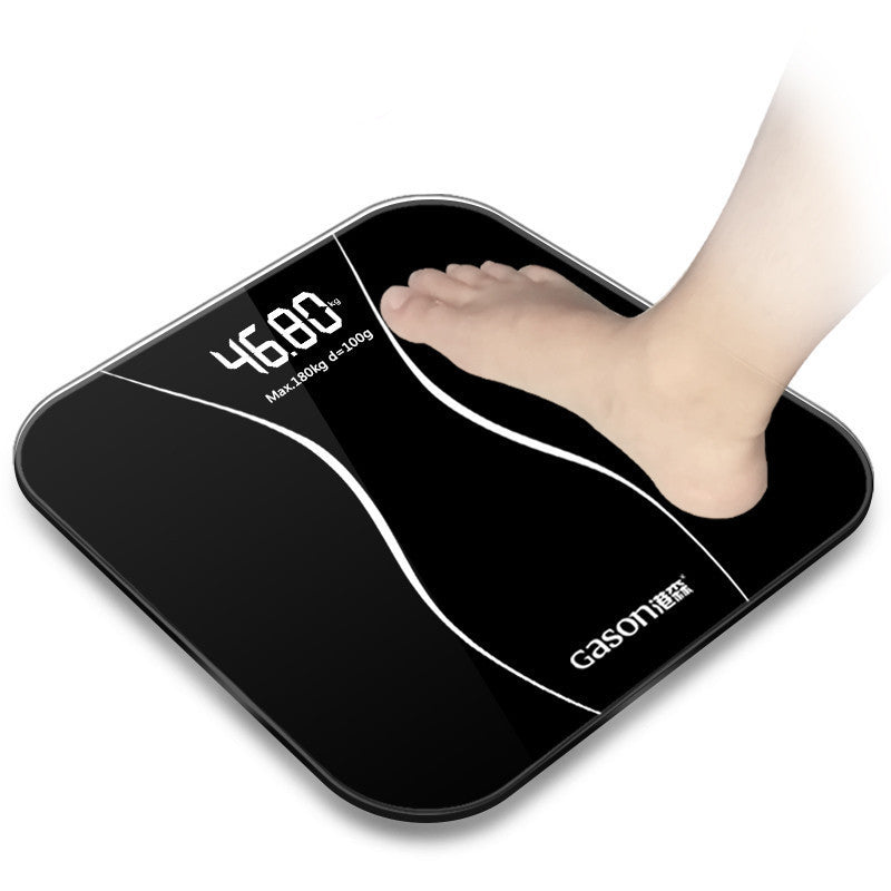 China / blackBathroom floor scales smart household electronic digital Body bariatric LCD display Division value 180kg=400lb/0.1kg