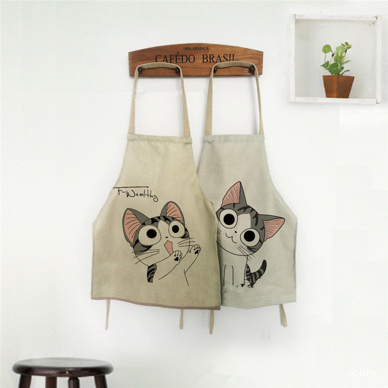 Cooking Apron Funny Novelty BBQ Party Apron Naked Men Women Cat Cheeky Kitchen Cooking Apron