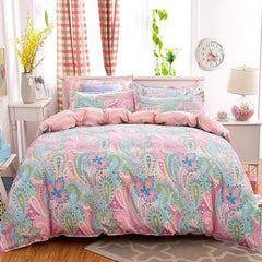 4pcs Bohemian Bedding Set Soft Polyester Bed Linen Duvet Cover Pillowcases Bed Sheet Sets Home Textile Queen Full Coverlets-Dollar Bargains Online Shopping Australia