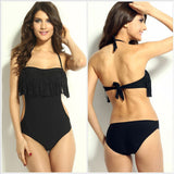 New Fashion Sexy Triangular One Piece Swimsuit Chest Padded Wrapped Tassel Swimwear No Steel Prop WS164-Dollar Bargains Online Shopping Australia