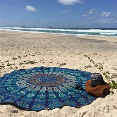 Summer large Chiffon printed beach towel, Bohemia wind scarf-Dollar Bargains Online Shopping Australia