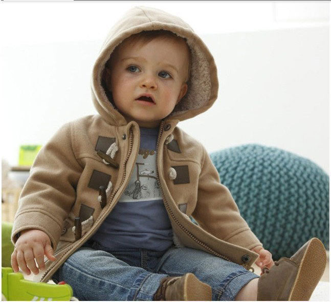 Khaki / 2TNew Baby Boys Children outerwear Coat Fashion Kids Jackets for Boy Girls Winter Jacket Warm Hooded Children Clothing