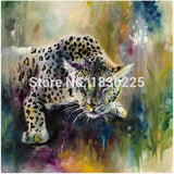 Handmade Items Colorful Abstract Paintings Animals Oil Painting Deer Oil Paintings Wall decor Wallpapers Home Decor Unframed-Dollar Bargains Online Shopping Australia