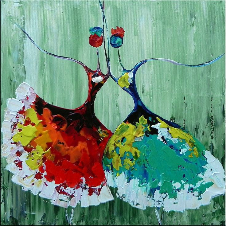 hand painted canvas oil paintings Unframed Ballet Abstract Art ...
