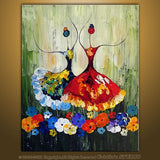 hand painted canvas oil paintings	Unframed Ballet Abstract Art Painting ballet dancer oil painting kids room decor abstract oil painting-Dollar Bargains Online Shopping Australia