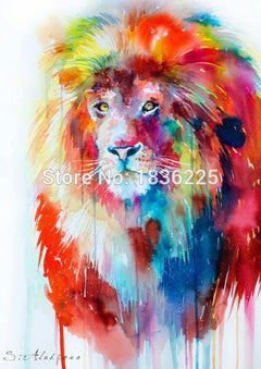 Frameless picture on wall acrylic painting by numbers abstract handpainted drawing unique gift Animal Lion king Oil painting-Dollar Bargains Online Shopping Australia