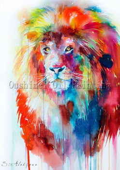 1 / 50x70cmFrameless picture on wall acrylic painting by numbers abstract handpainted drawing unique gift Animal Lion king Oil painting