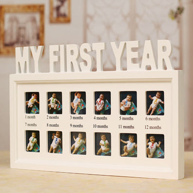 Baby's First Year Picture Frame ,Hanging Decorative Photo Frame CM-FHD0001-Dollar Bargains Online Shopping Australia