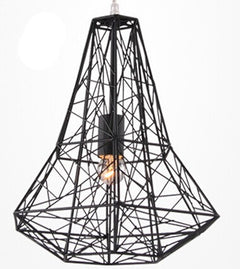 Modern Wrought Iron Bird Cage Pendant Light American Retro Industrial LOFT Bar Lamp Hanging Minimalst Geometric Fixtures110-240V-Dollar Bargains Online Shopping Australia