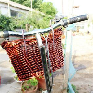 New Outdoor Classic Style Rustic Basket Willow Straps Cycling Bicycle Wicker Manual Basket-Dollar Bargains Online Shopping Australia