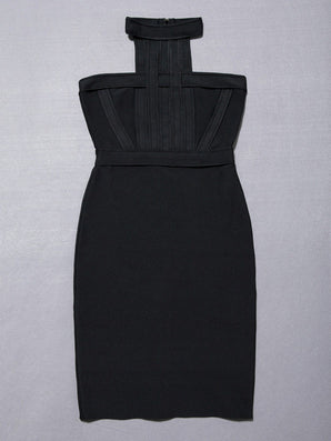 high quality nude o neck black mini sleeveless Bodycon Bandage Dress-Dollar Bargains Online Shopping Australia