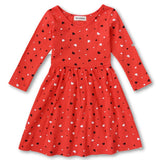 100% Cotton Baby Girls Dress Long-Sleeve Red Heart-Shape Winter Dresses For Kids Children Clothes-Dollar Bargains Online Shopping Australia
