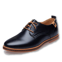 Leather Casual Men Shoes Fashion Men Flats Round Toe Comfortable Office Men Dress Shoes-Dollar Bargains Online Shopping Australia