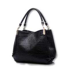 Big New Women Shoulder Bags Alligator Ladies Leather Bags Women Handbags Of Famous Brands Totes Black Sac Espagnol-Dollar Bargains Online Shopping Australia