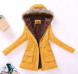 Thicken Warm Winter Fur Collar Jackets for Women Women's Long Down Parka Plus Size 3XL Parka Hoodies Parkas for Women-Dollar Bargains Online Shopping Australia