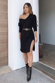 Lauren Knit Dress - Black