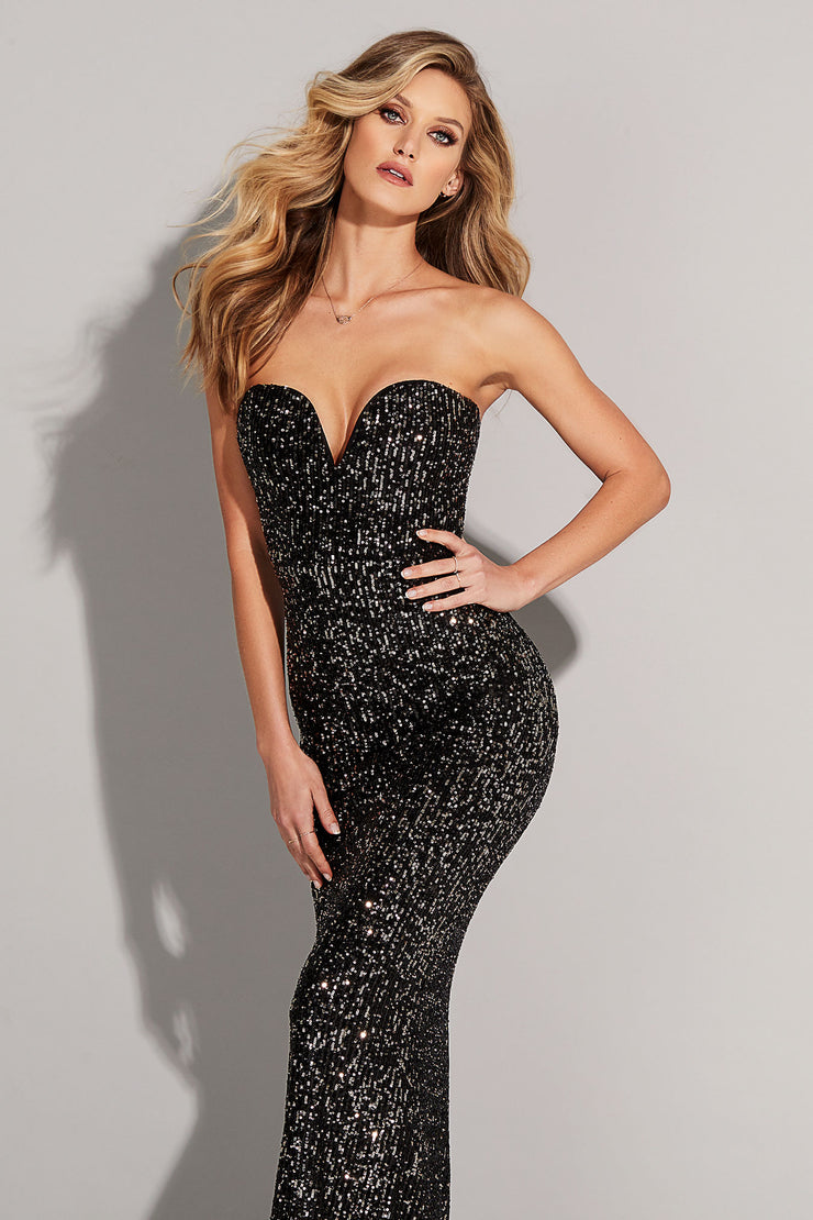 Nookie Fortune Gown - Black/Bronze - SHOPJAUS - JAUS