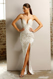 Jadore JX1028 Dress - Silver/Ivory - SHOPJAUS - JAUS