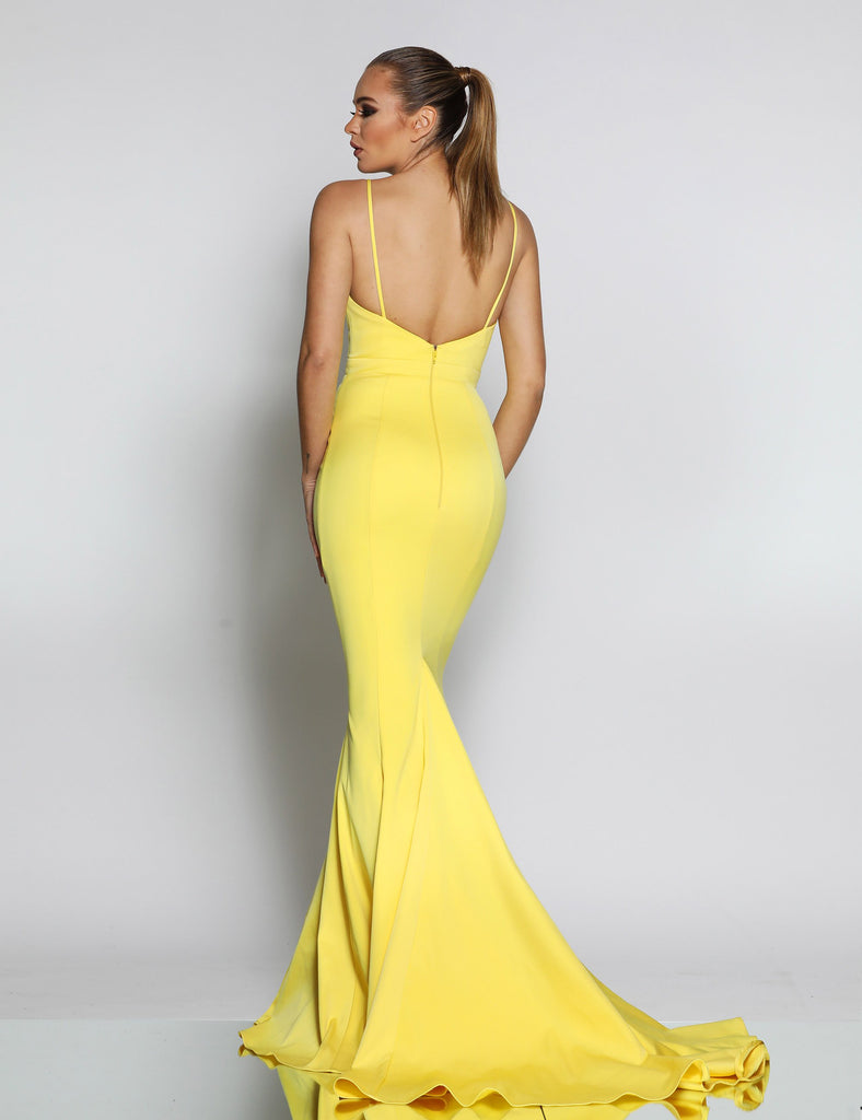Jadore JX1050 Gown - Yellow - SHOPJAUS - JAUS