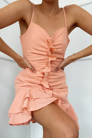 Edith Dress - Peach - SHOPJAUS - JAUS