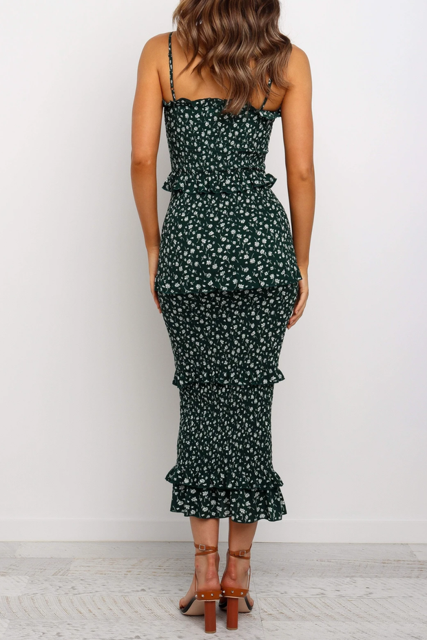 Meadows Dress - Green Floral - SHOPJAUS - JAUS
