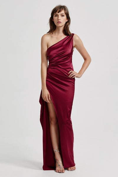 Samira Dress - Burgundy - SHOPJAUS - JAUS