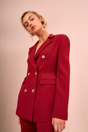 C/MEO Visceral Blazer - Berry - SHOPJAUS - JAUS