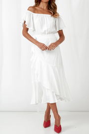 Dalila Dress - White - SHOPJAUS - JAUS