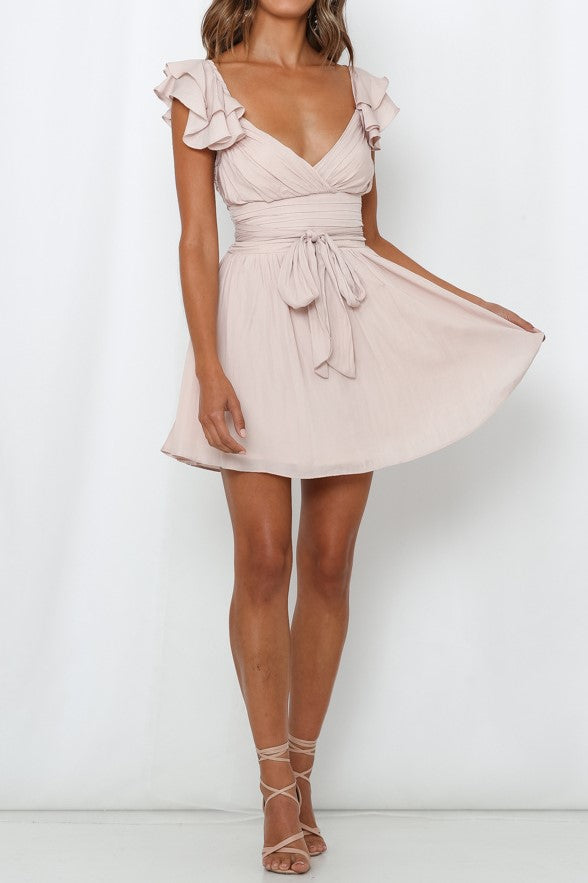 Grecian Dress - Nude